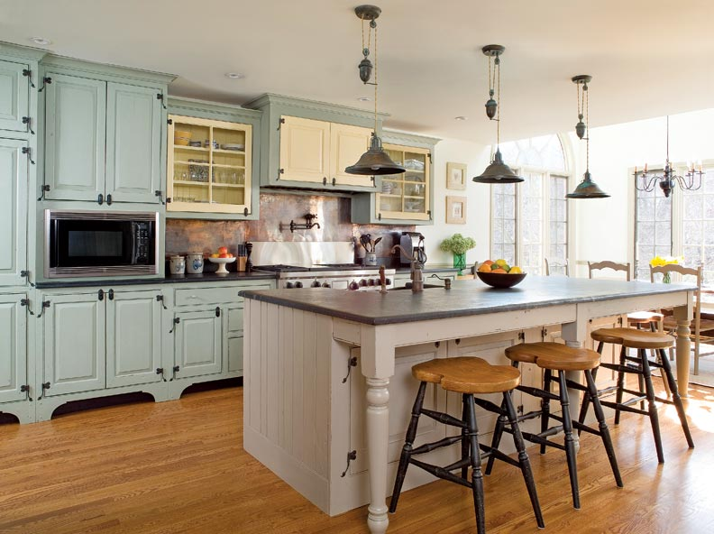 Traditional trades period kitchen cabinets restoration design for the vintage house old Kitchen design colonial home