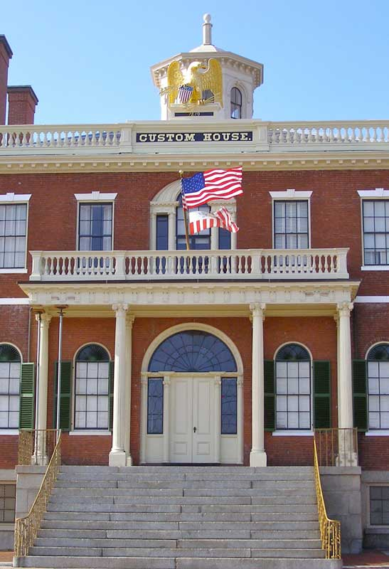 Tours are excellent at the 1819 Custom House, which figures in Hawthorne's The Scarlet Letter.