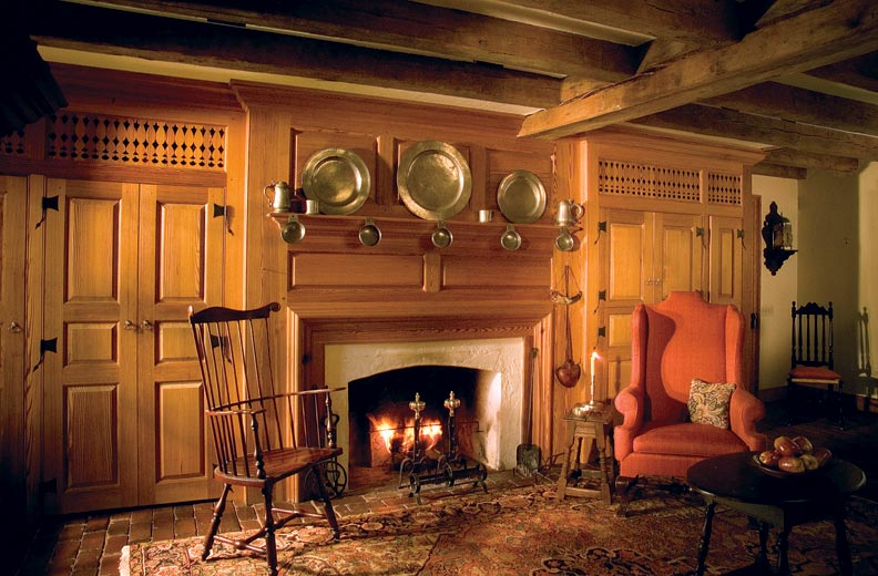 Architect John Milner replicates colonial-era mantels for many of his Pennsylvania designs.