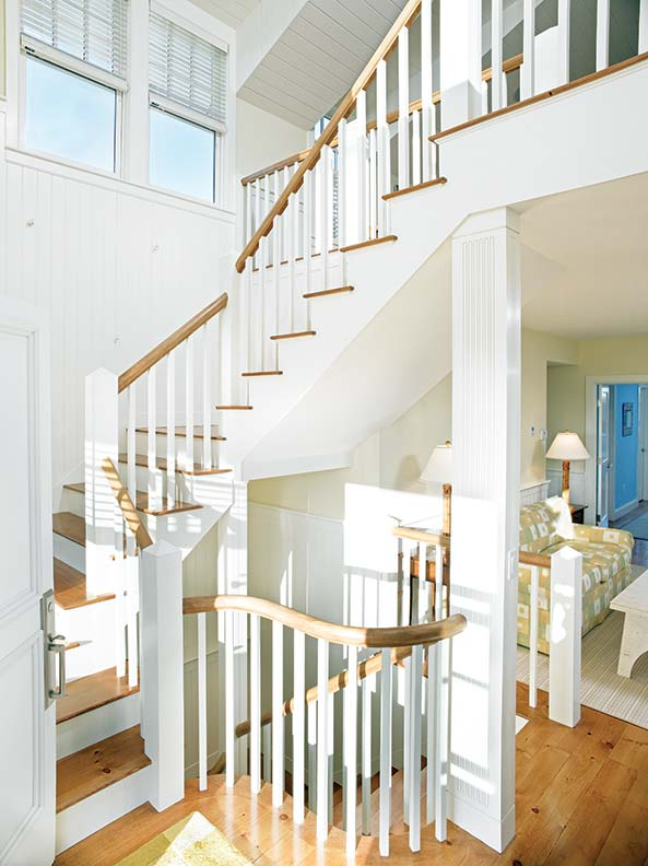 The interiors are filled with natural light and traditional and nautical detailing.