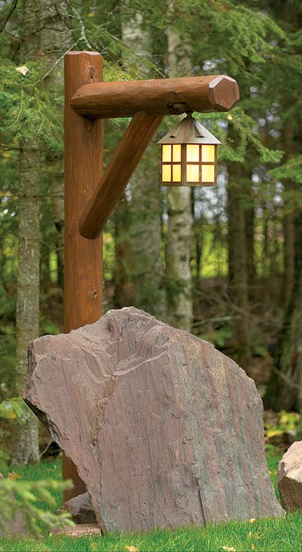 The company also produces outdoor lighting, such as this Arts & Crafts-style lantern.