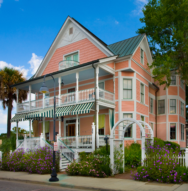 Two old-house B&B inns in Beaufort, South Carolina.