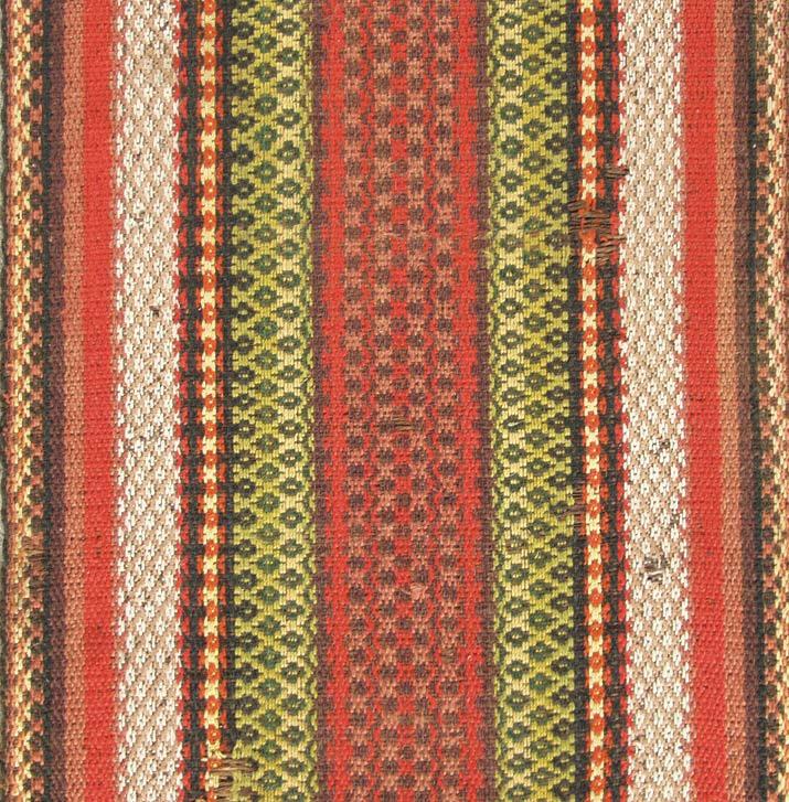 Figured Venetian carpet with diamond pattern.