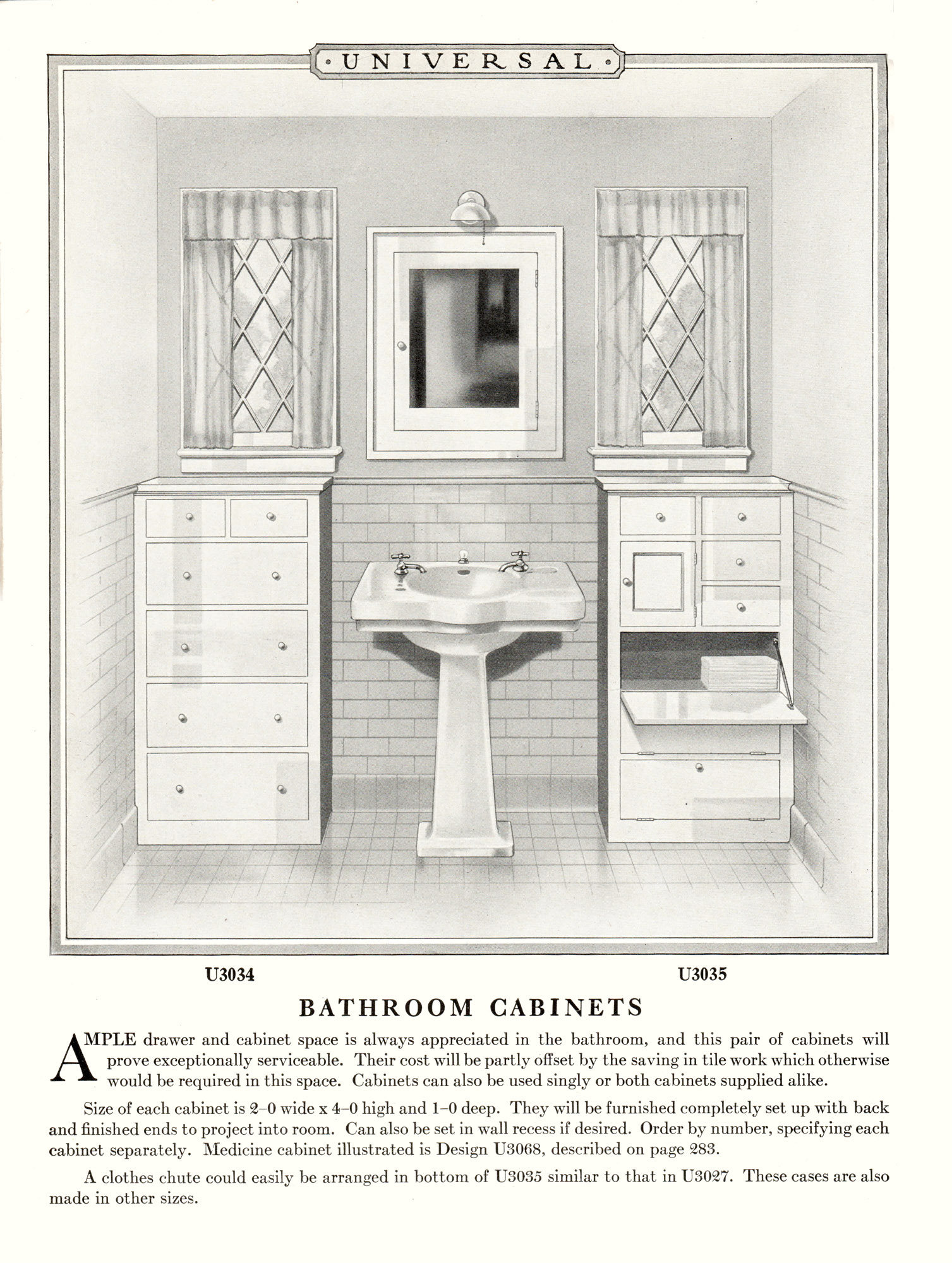 Universal Design Book No. 25 on Builder's Woodwork, Roach & Musser Co., 1927.