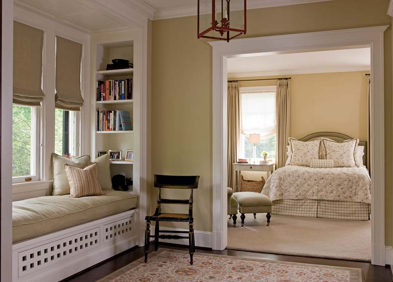 Upstairs rooms were reconfigured to create a master bedroom.