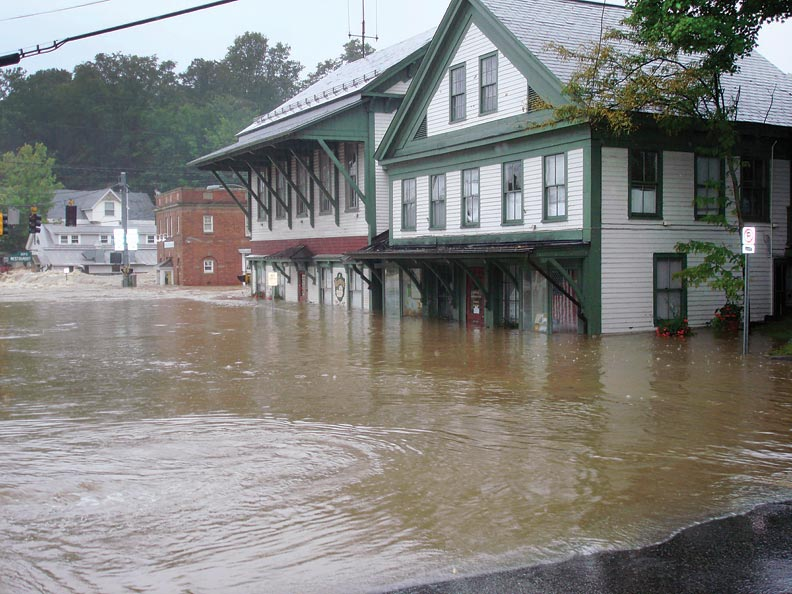 flooding in Wilmington's historic downtown