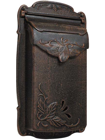 Vertical floral design mailbox from House of Antique Hardware