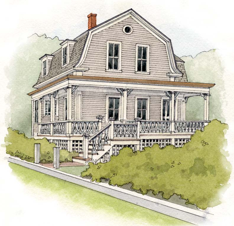 Historic paint colors for a Second Empire cottage