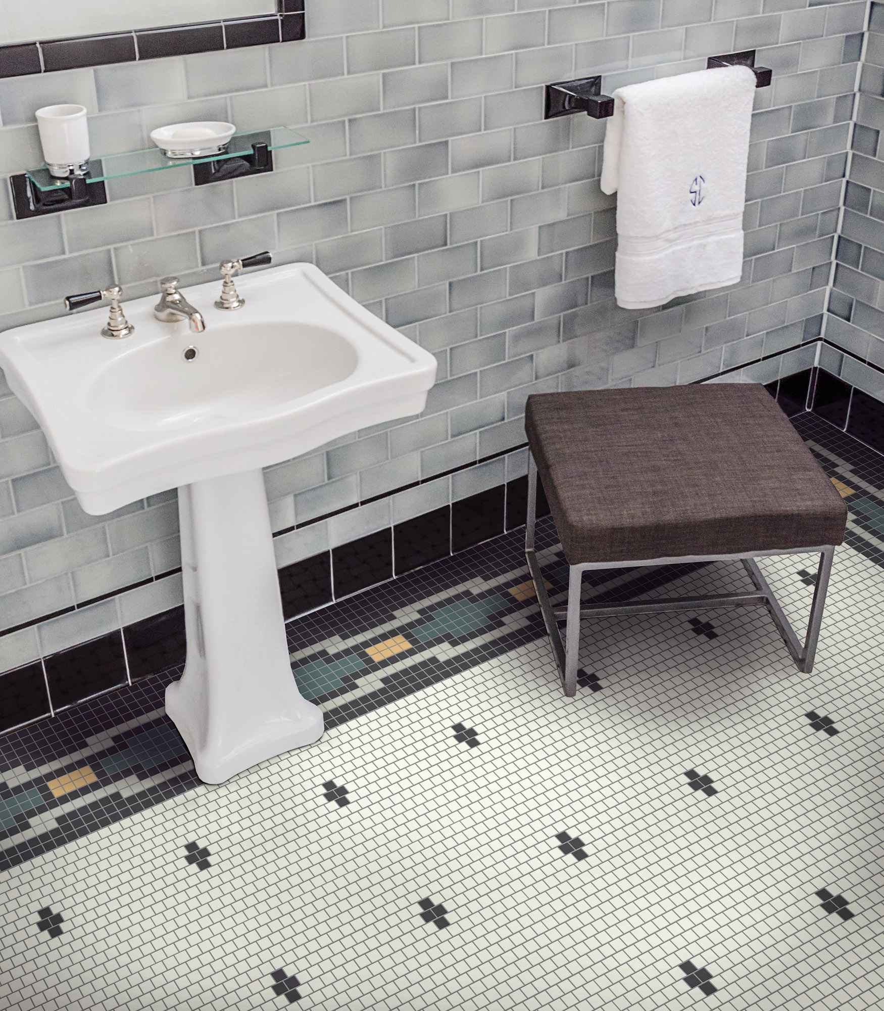 Bathroom floor tiles from Heritage Tile