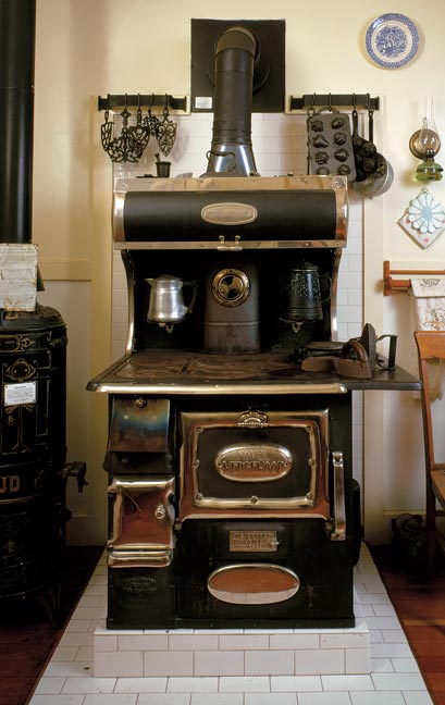 This 1915 wood-burning Wedgewood stove is still in use at the Ardenwood Historic Farm in Fremont, California.