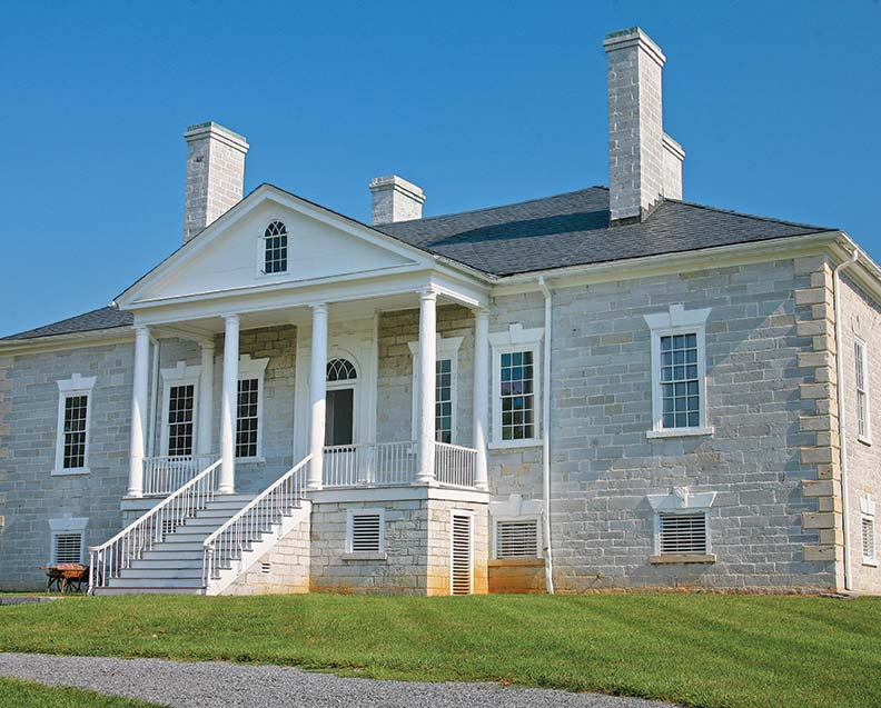 At Belle Grove, a Palladian manor built in 1797, programs and re-enactments are held April through October.