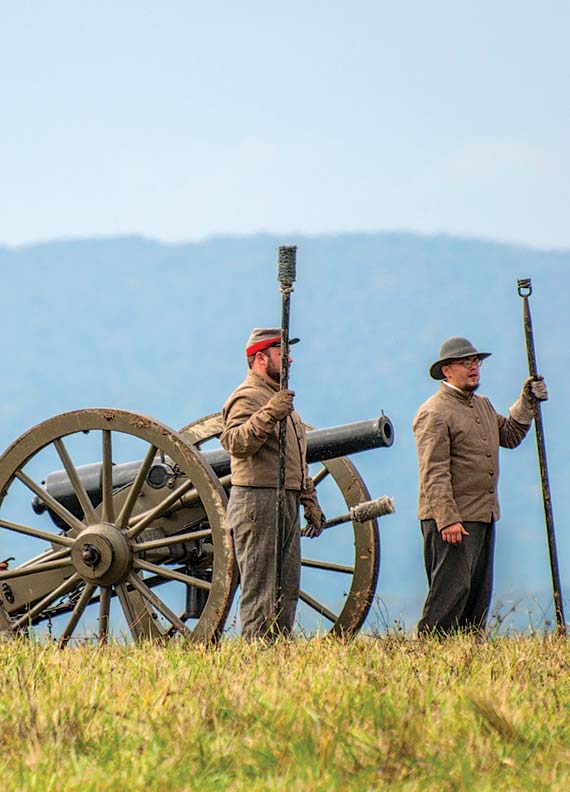 The area is rife with Civil War history; the Battle of Cedar Creek is re-enacted every year.