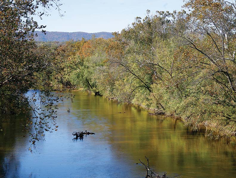 The Shenandoah River is a popular spot for canoeing.