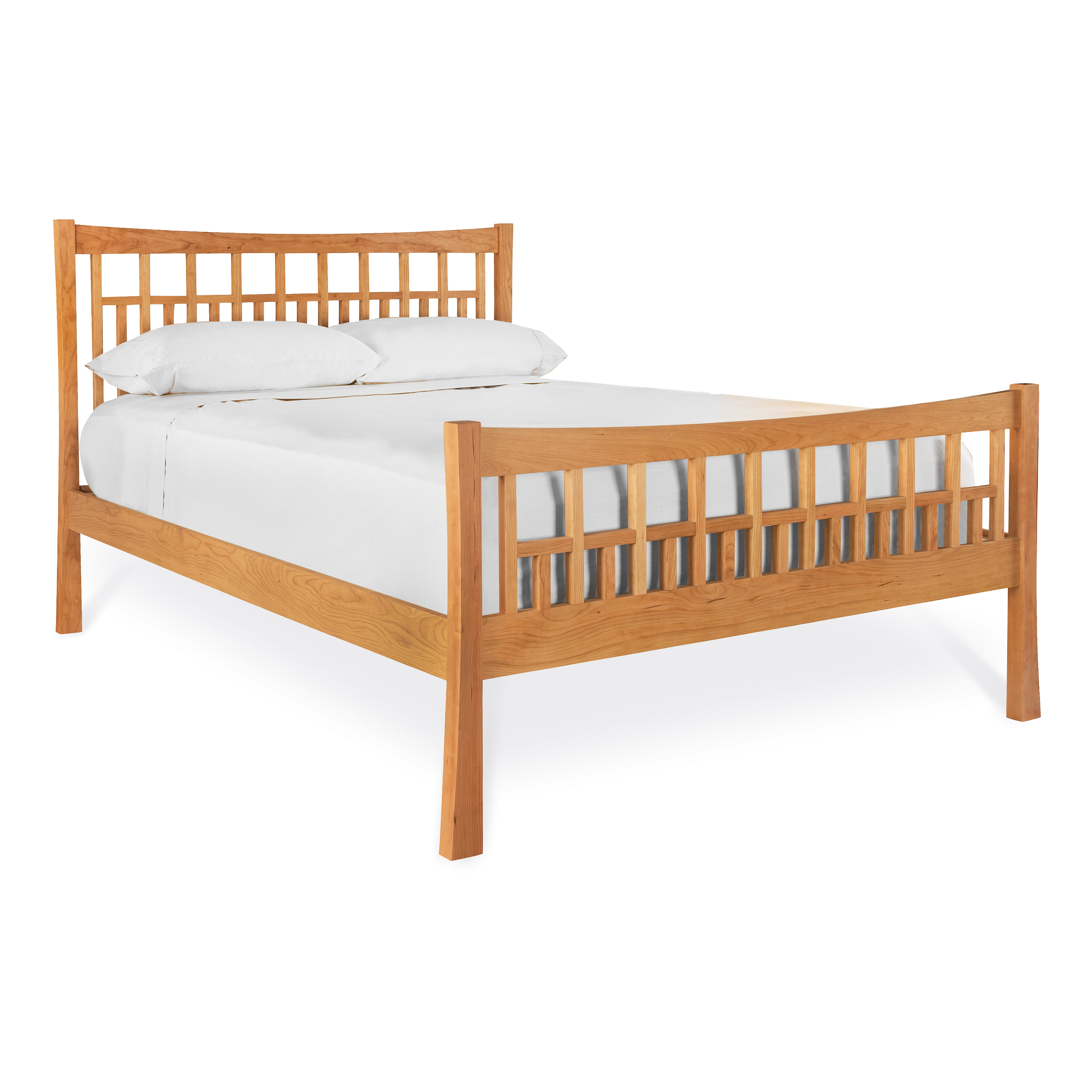 Contemporary Craftsman platform bed.