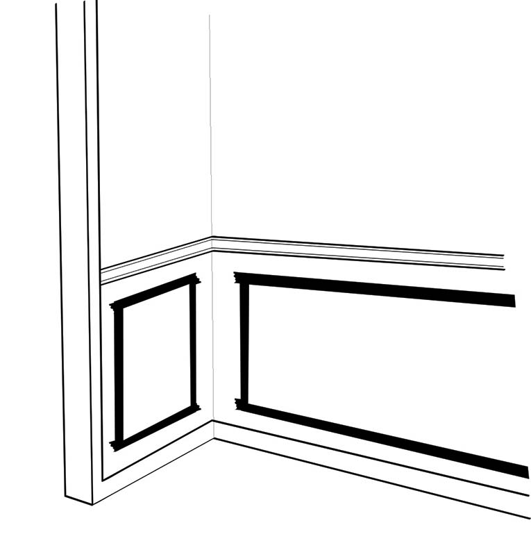 Mark the location of panels with painter's tape