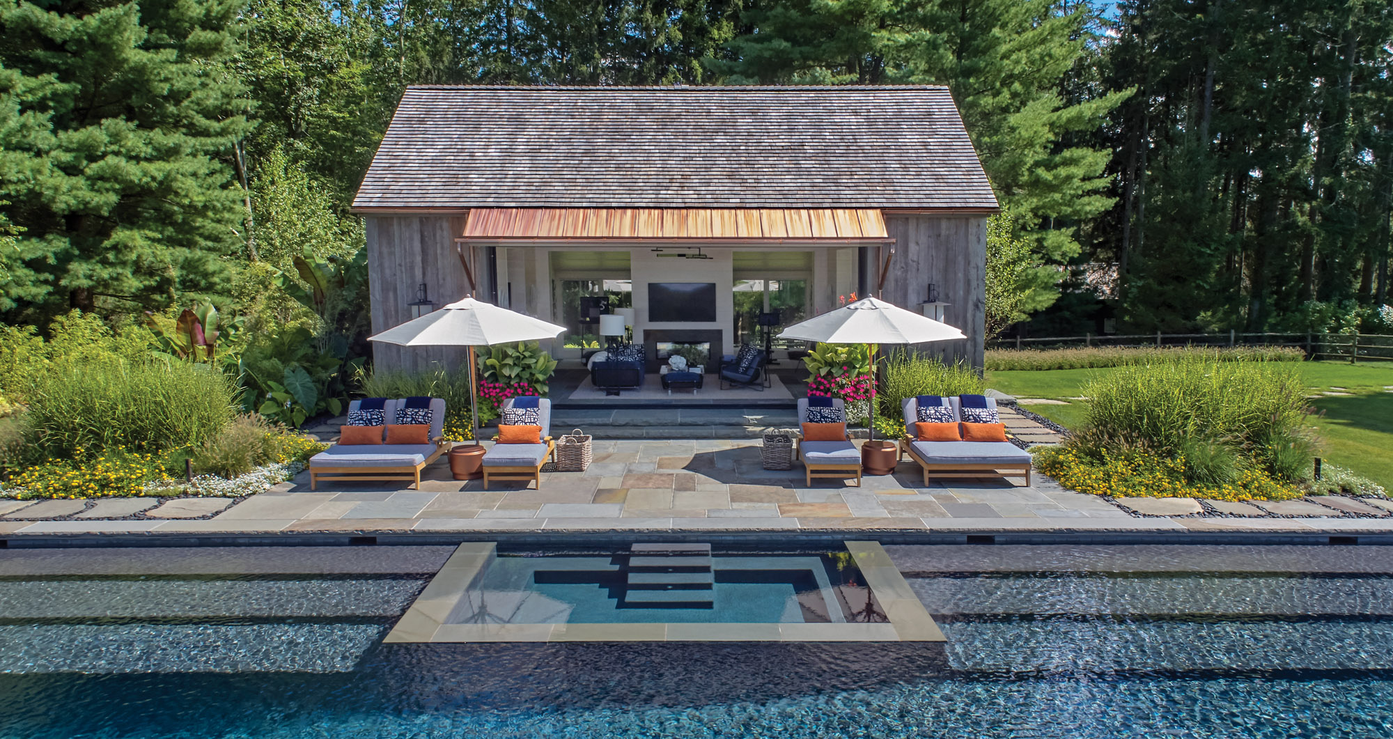 open-air pavilion pool house