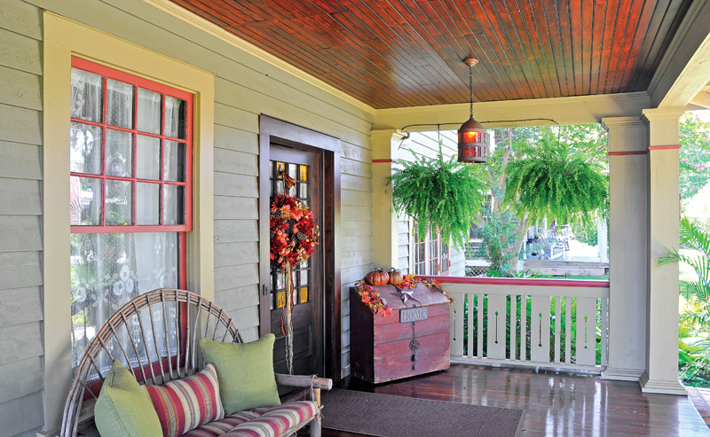 front porch with windows