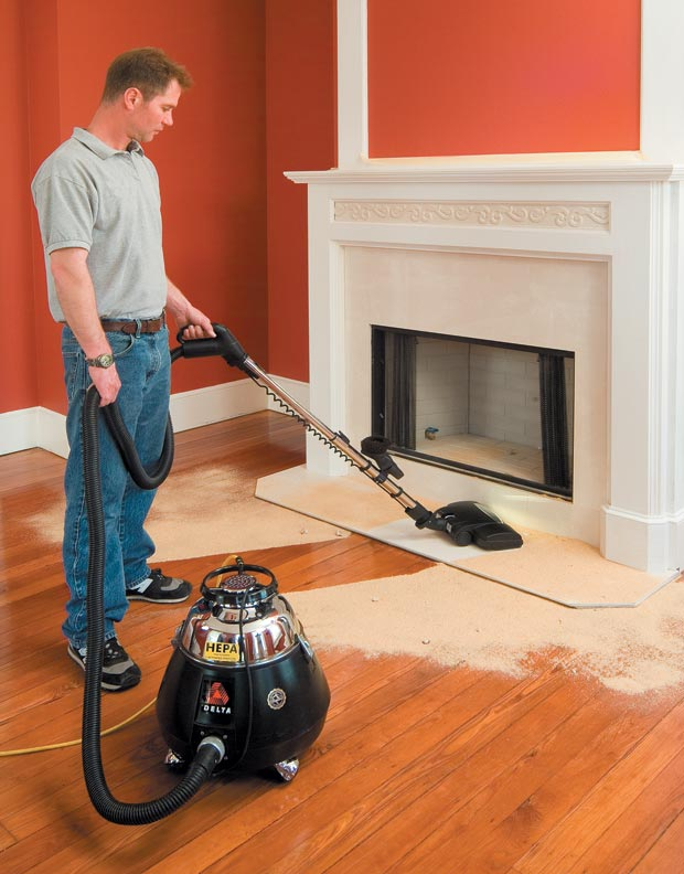 Modern utility vacuums come in many shapes and sizes, and with increasingly sophisticated abilities. HEPA models, like this one from Delta, are capable of lifting extremely fine particles and are well-suited for lead abatement jobs.
