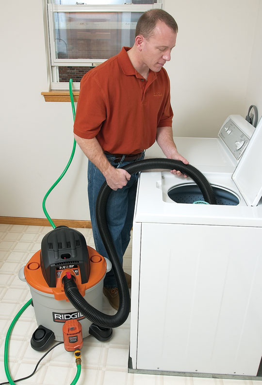 With wet vacs, some filtration often must be removed for the machine to suck up water.