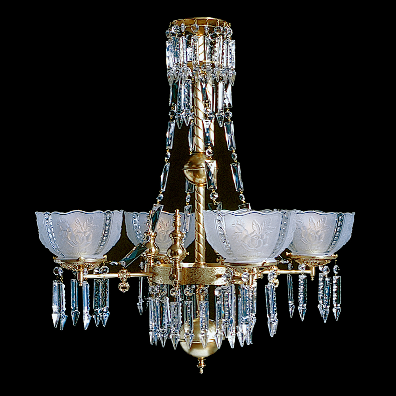 Kings chandelier co restoration design for the vintage house whitaker 4b gasolier beauregard chesapeake crystal chandeliers aloadofball Image collections