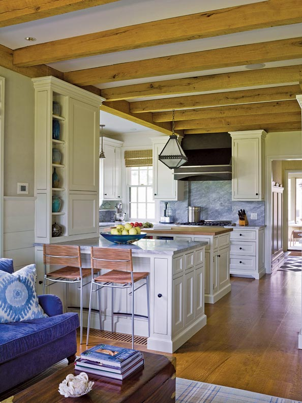 McKee Patterson designed this bright, functional kitchen for a young couple who love to entertain.