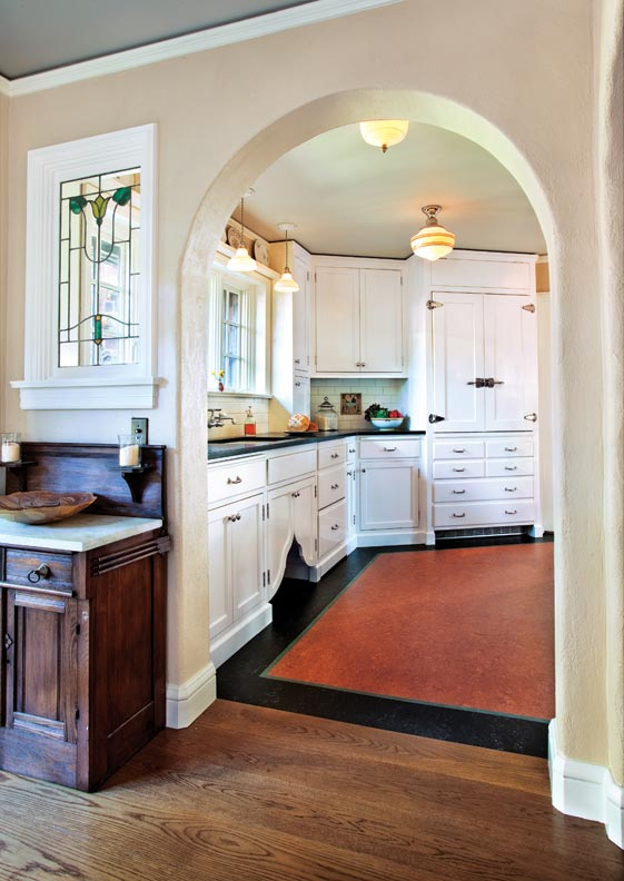 Classic White Kitchen For A 1920s Tudor Restoration