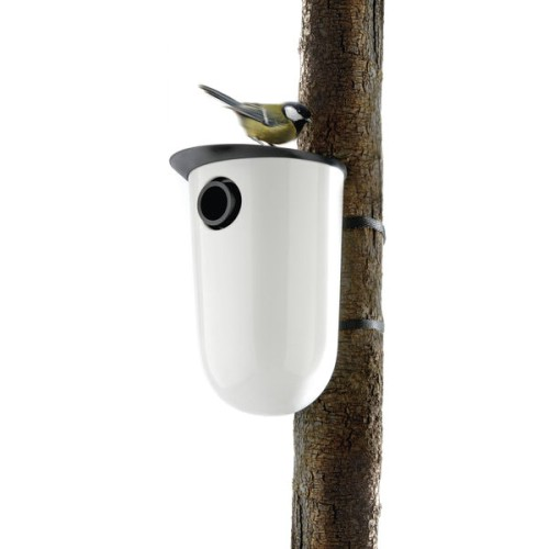 Why shouldn't birds have a Modernist abode, too? This ceramic nesting box from Danish firm Tools Design (available through Eva Solo) is as adaptable—change the hole size to accommodate different birds—as it is eye-catching.