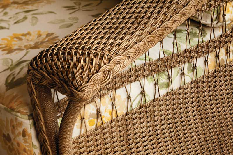 Wicker furniture from Lloyd Flanders' 'Nantucket' series