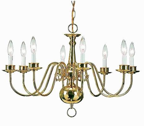 Williamsburg chandelier by Newstamp Lighting