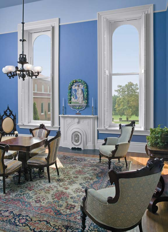 New technology allowed for expansive panes of glass by the Victorian era, like these arch-top reproductions from Marvin.