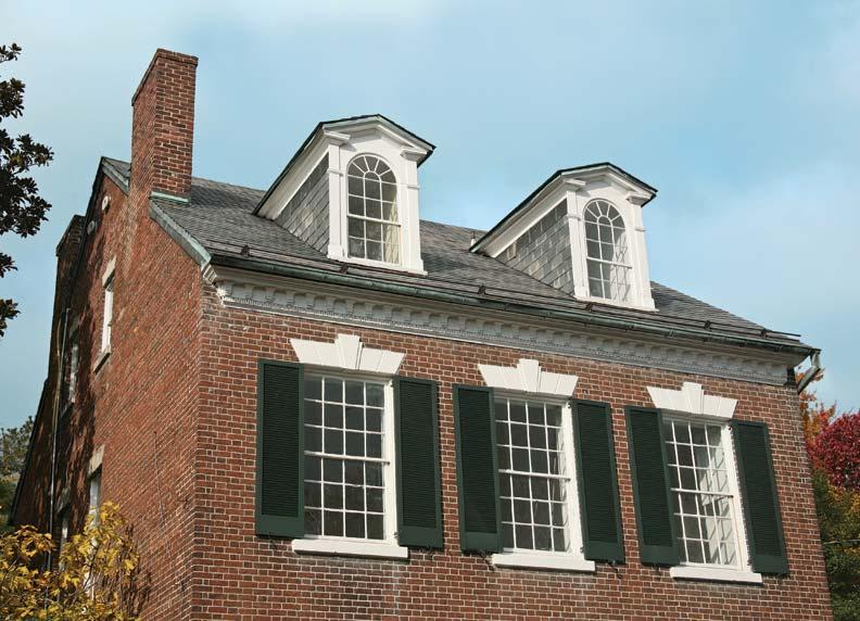 Double-hung twelve-over-twelve windows are a hallmark of Georgian houses.
