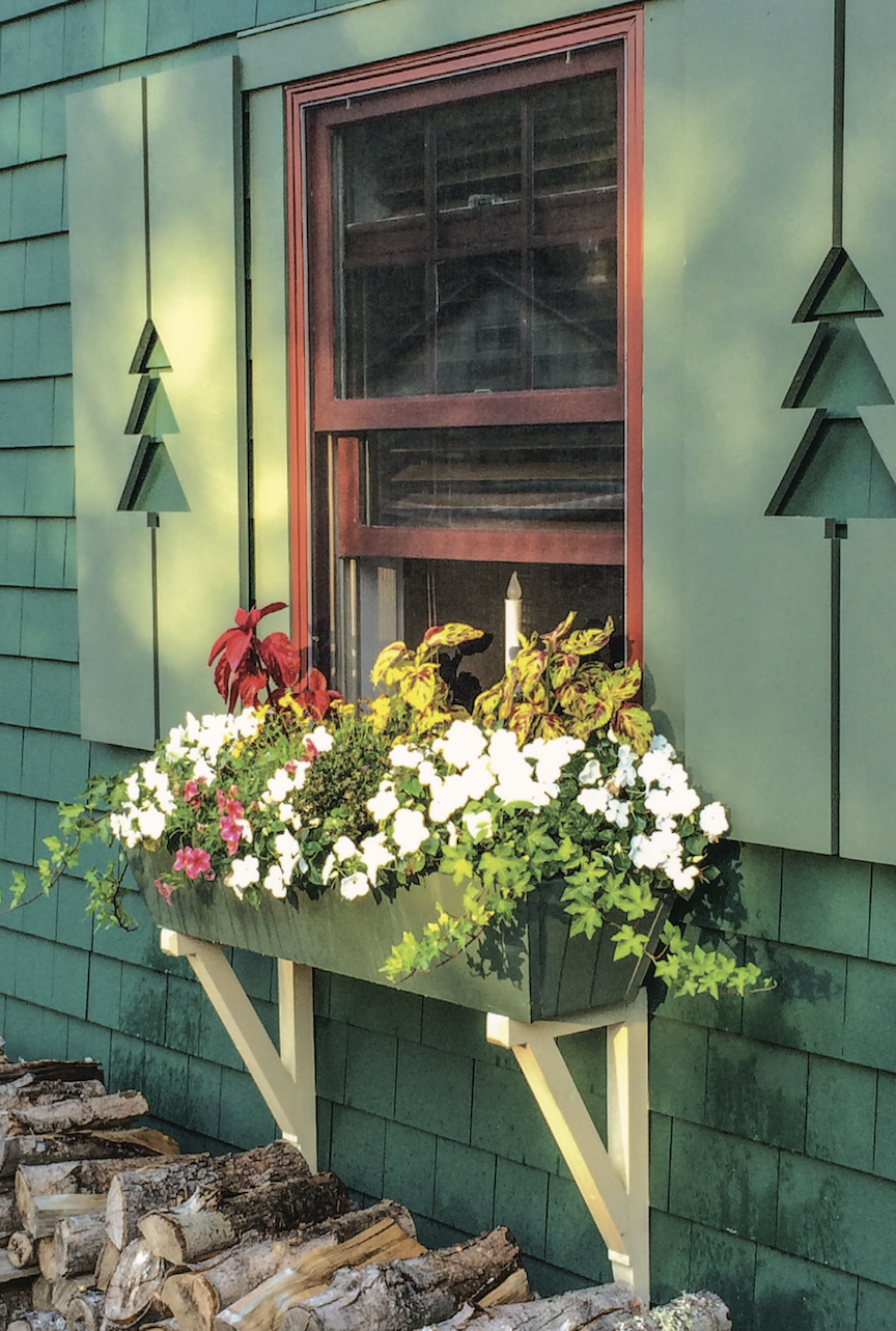 Cottage with garden window box