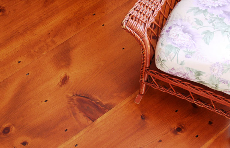 Wide-plank wood floors by Hull Forest Products