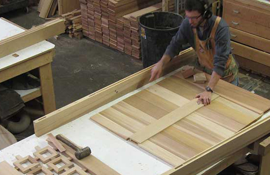 Ben Prowell dry-fits a gate prior to final glue-up.