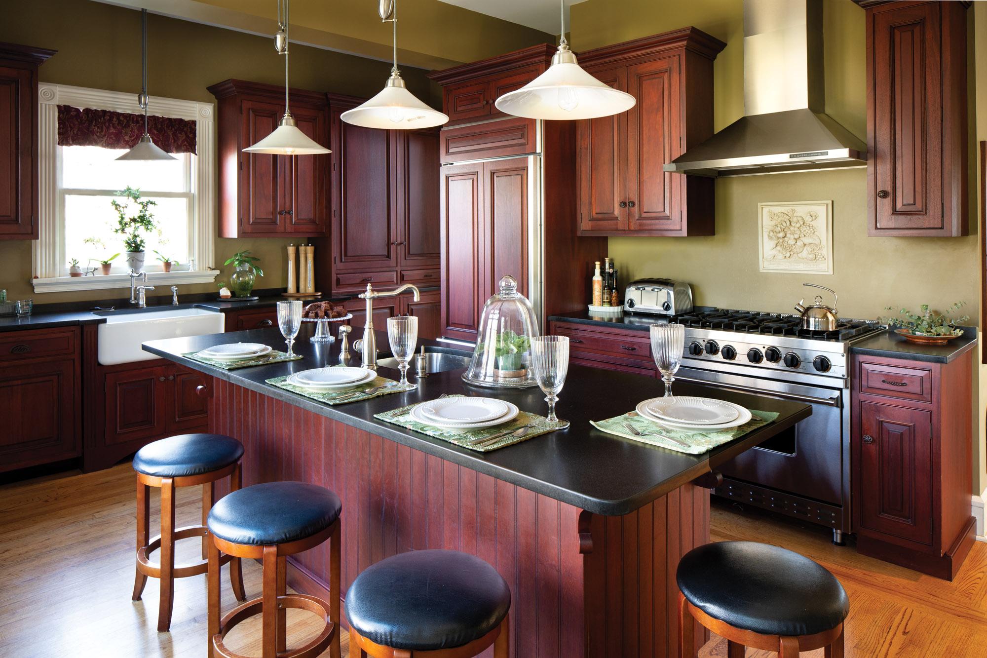 restored Queen Anne kitchen