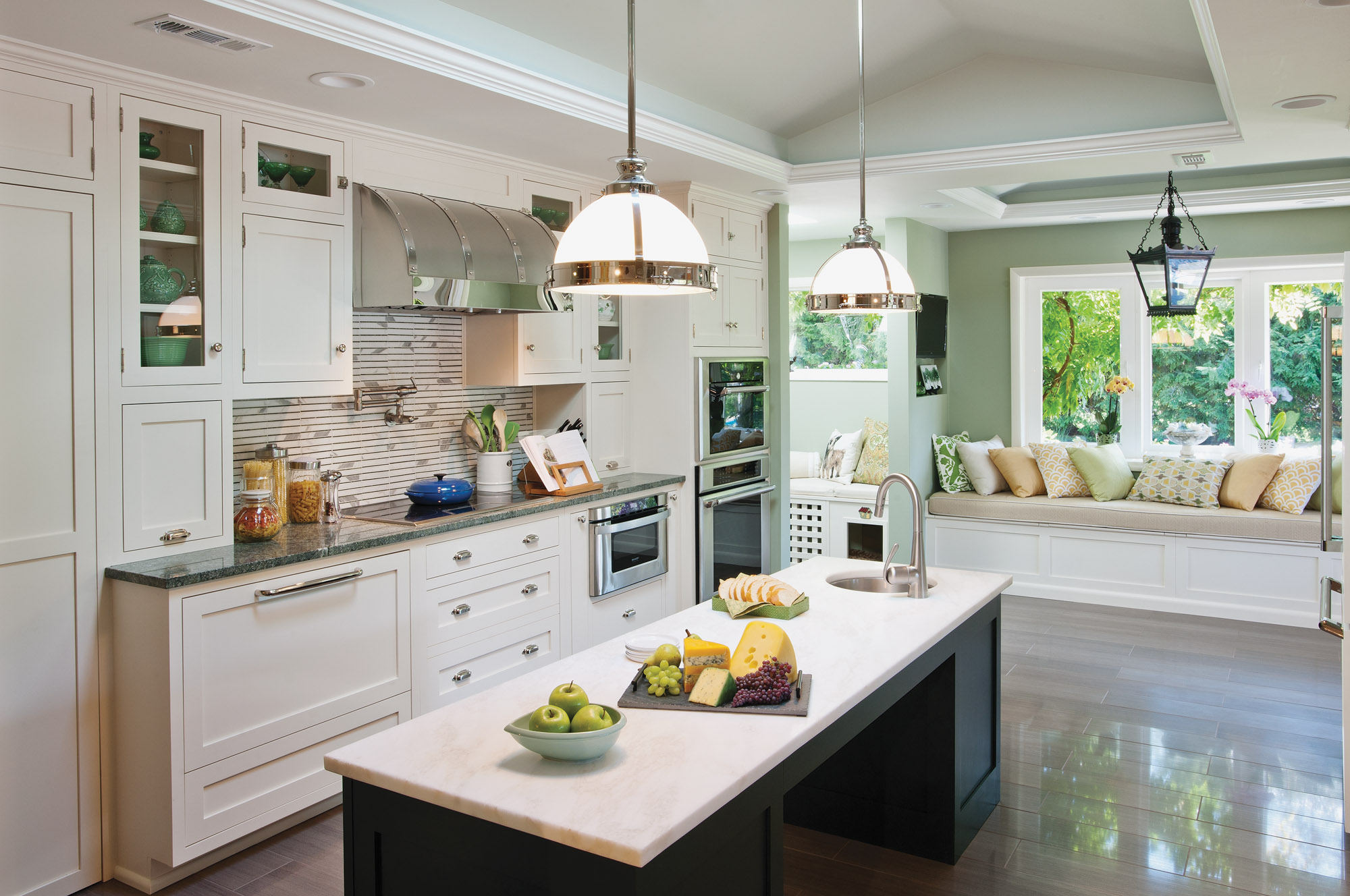 Good lighting, maneuverability, and well-placed appliances are practical solutions for an accessible kitchen enjoyed by all members of the household.